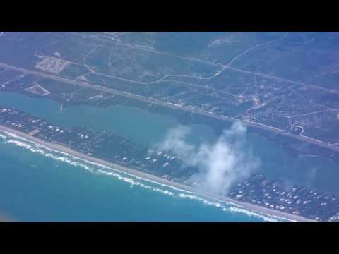 Orlando-Miami flight: Cocoa, Palm Beach, Fort Lauderdale Beach & FLL Airport 2017-01-12