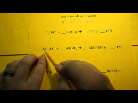 Balancing Chemical Equations (Neutralization Reactions)