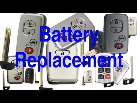 Toyota Smart Key Keyless Remote Battery Replace