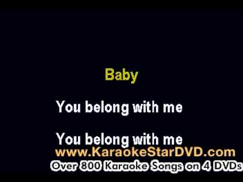 Taylor Swift - You Belong To Me - Karaoke Music With Lyrics