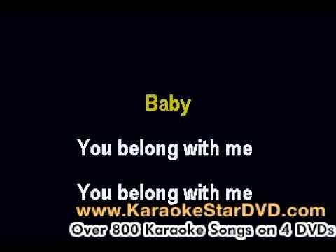 Taylor Swift - You Belong To Me - Karaoke Music With Lyrics