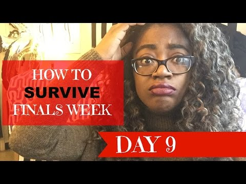 HOW TO SURVIVE FINALS WEEK || DAY 9