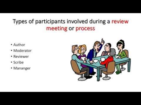 Types of participants involved during a Review Process or Meeting