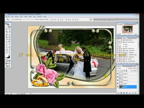 put picture in psd template / frame in photoshop