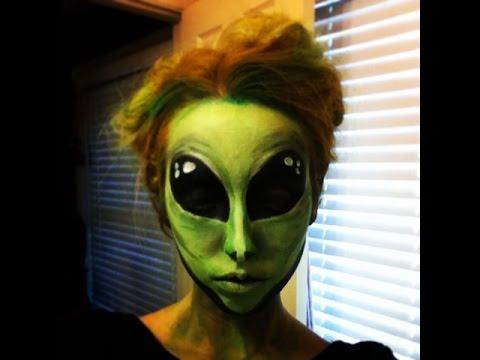 Martian Makeup Tutorial (Alien Face Paint)