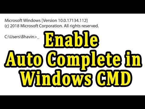 How to Enable Auto Complete Feature in Windows Command Prompt | Windows 10