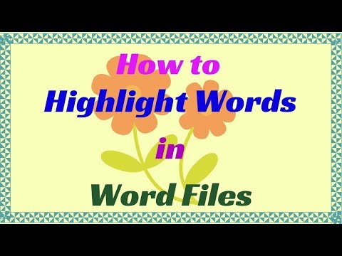How to Highlight Words in Word Files