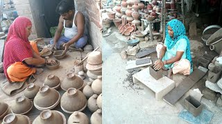 Indian Women Working With Clay💖RURAL INDIA💖VILLAGE LIFE OF PUNJAB/ INDIA💖Rural lifestyle