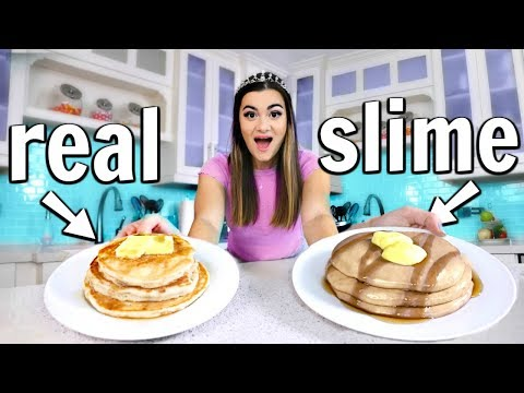 Making FOOD out of SLIME! Food vs Slime Challenge