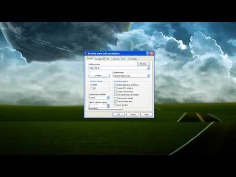 Tutorial: How to Produce Split .RAR Files