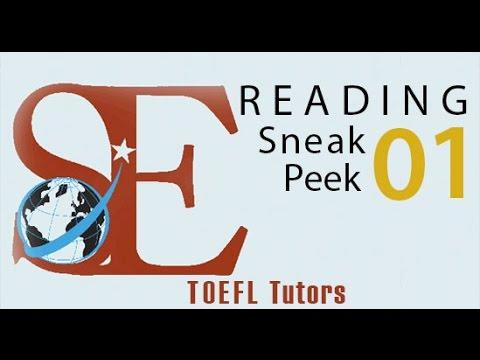 TOEFL Reading Questions: Summary
