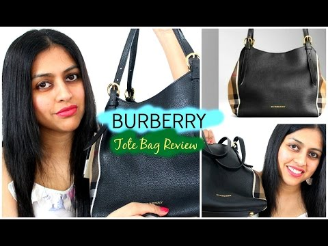 e38d5adcb156 BURBERRY TOTE BAG - Small Canter in Leather   House Check