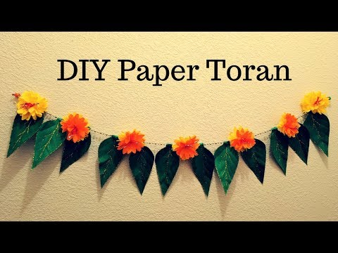 Diwali Special DIY Paper Toran | Tissue paper Flower Toran( Garland)