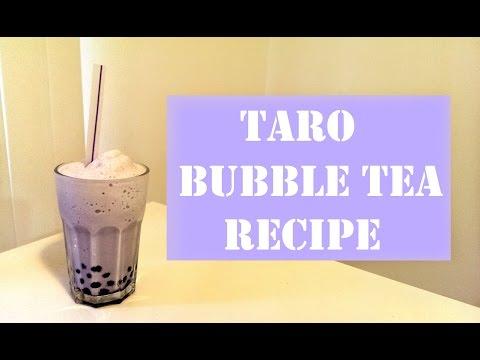 Taro Bubble Tea Frozen Drink Recipe