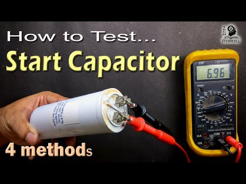 How to Test Motor Start and Motor Run AC Capacitor of ac fan and compressor