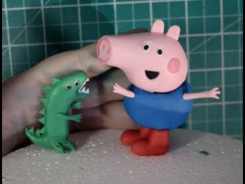 How To Make George & Dinosaur Cake Topper From Peppa Pig