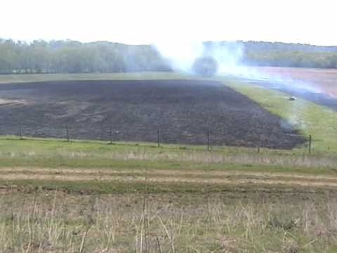 Burning of the Prairie Grasses at Red Wolf Sanctuary