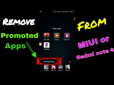 [Redmi note 4] Remove promoted apps from folder in MIUI or MI phone