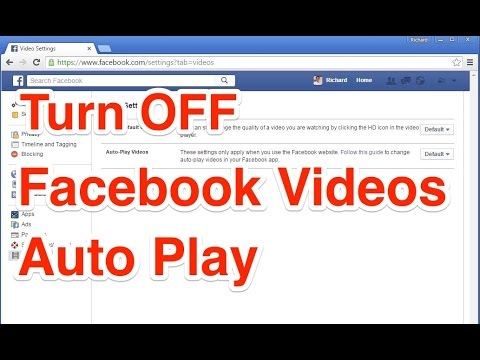 How to Turn OFF Facebook Videos Auto Play?