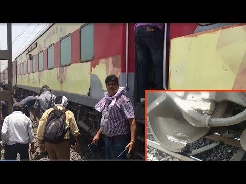 Nagpur: Lucky escape for passengers as wheel of train travelling at 100kmph breaks