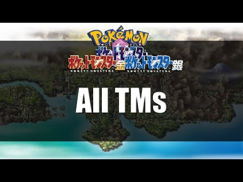 Pokemon Gold Silver & Crystal | All TM Locations