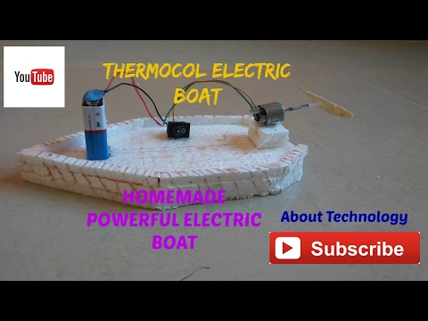 How to make an Thermocol Electric boat SCHOOL PROJECT.