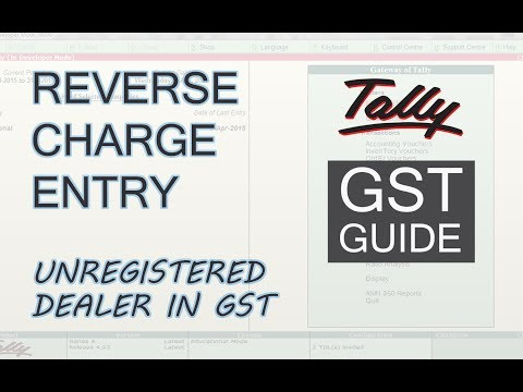 GST in Tally | Reverse Charge on Purchase from Unregistered Dealer | Reverse Charge in GST