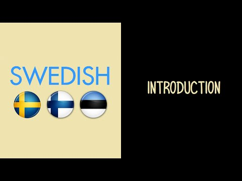 Introduction to the Swedish Language