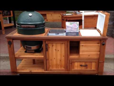 Rustic WoodWorx Custom Grill Tables