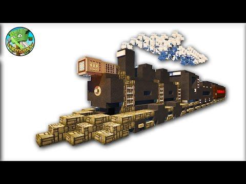 Build A Steam Train in Minecraft - Creative Mode