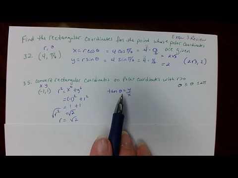 Polar and rectangular coordinates precal   exam 3 review