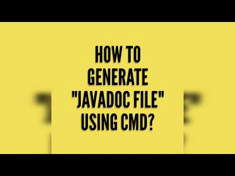 How To Generate JavaDoc File Using CMD? (Without Eclipse)
