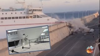 Ferry CRASHES into Harbor Walls in Incredible Accident!   What