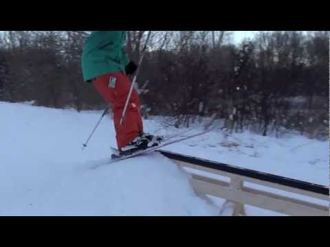 Urban Skiing PVC Pipe Rail