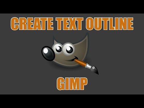 Create an Outline for Text in GIMP