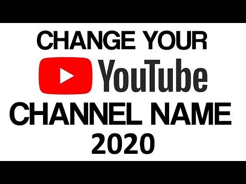 How To Change Your Youtube Username! 2018