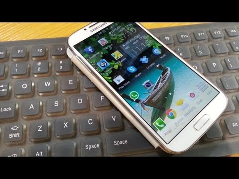 External Keyboard set up / demo on Samsung Galaxy S4