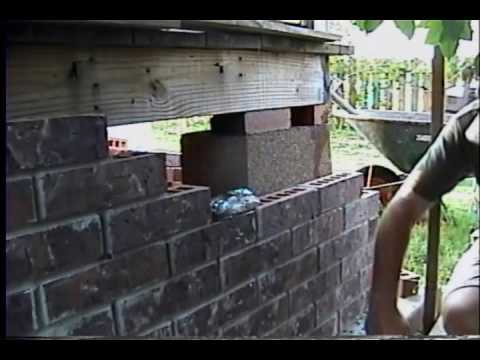 Laying brick around house