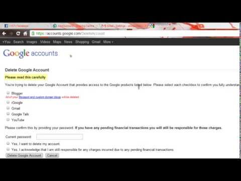 How to delete Gmail Account (2012)