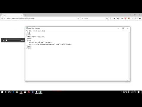 How to make video player using HTML