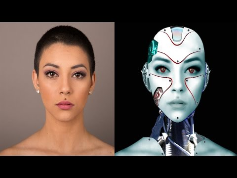 Realistic Cyborg girl photoshop tutorial cc