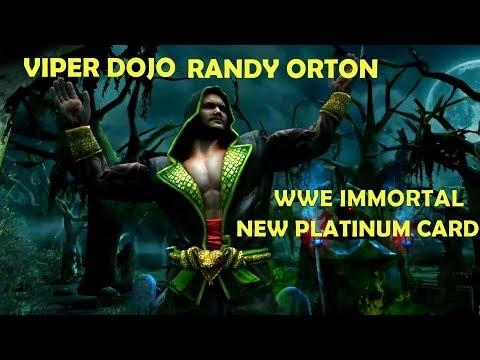 VIPER DOJO RANDY ORTON. NEW PLATINUM CARD WWE IMMORTAL. SIGNATURE AND FINISHER GAMEPLAY