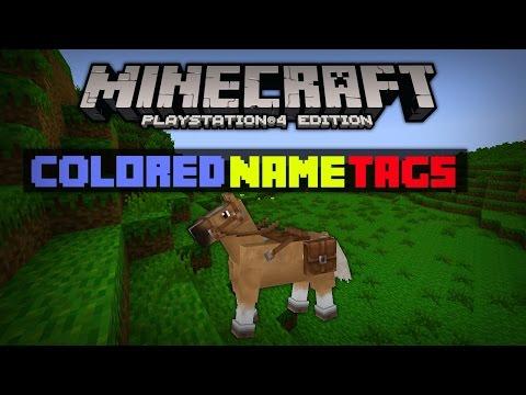 Minecraft PS4 Colored Nametags Tutorial! [TU19 Update]