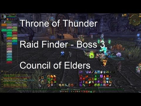 Council of Elders (Throne of Thunder Boss 3) Raid Finder - WoW Patch 5,2 LIVE !!