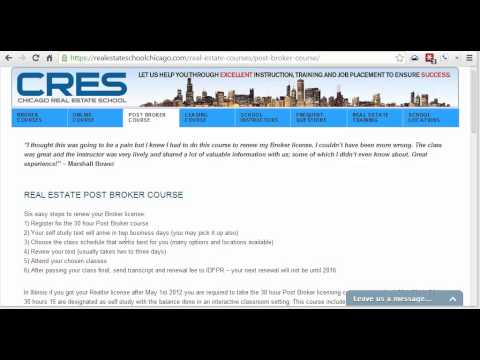 Chicago Real Estate School - Post Broker Realtor Continuing Education