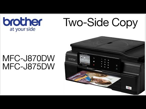 Making a two-sided copy on a Brother MFC-J870DW