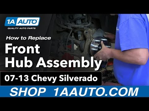 How To Install Replace Front Wheel Bearing Hub Assembly 2007-13 Chevy Silverado GMC Sierra 1500