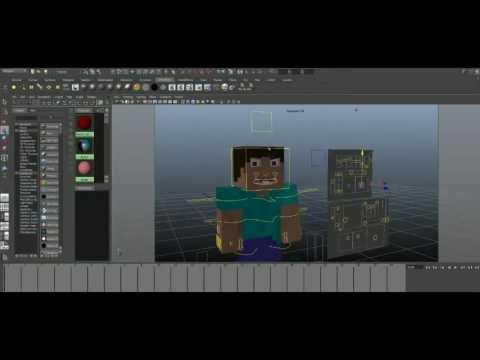 Minecraft Character Rig V2 (Auto-Desk Maya)