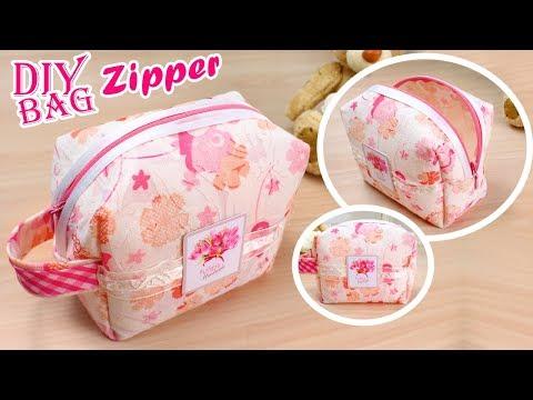 DIY Zipper Pouch Bag & Cute Travel  Bag