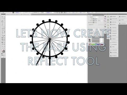 How to create ferris wheel in Illustrator